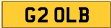 LB INITIALS  Private CHERISHED Registration Number PLATE OLB #TRANSFER FEE INC.#
